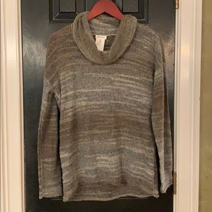 Tribal Jeans gray brown paper thin soft sweater m